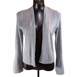89th & Madison Open Cardigan with Bell Sleeve Sm